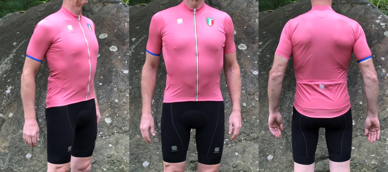 852d7c5efe4 Something about that pink jersey motivates me to climb better