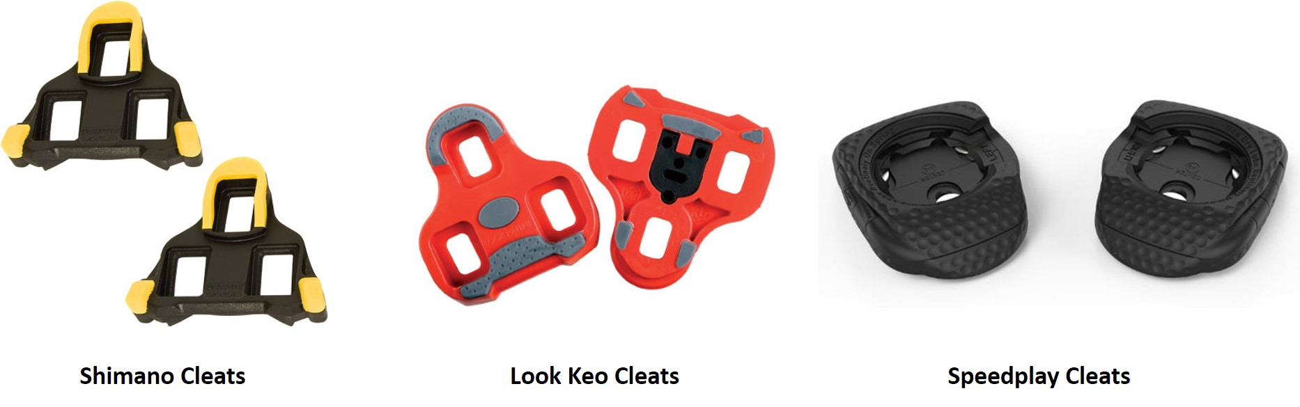 Road bike cleat array