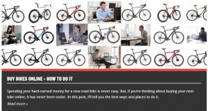 How to buy bikes online
