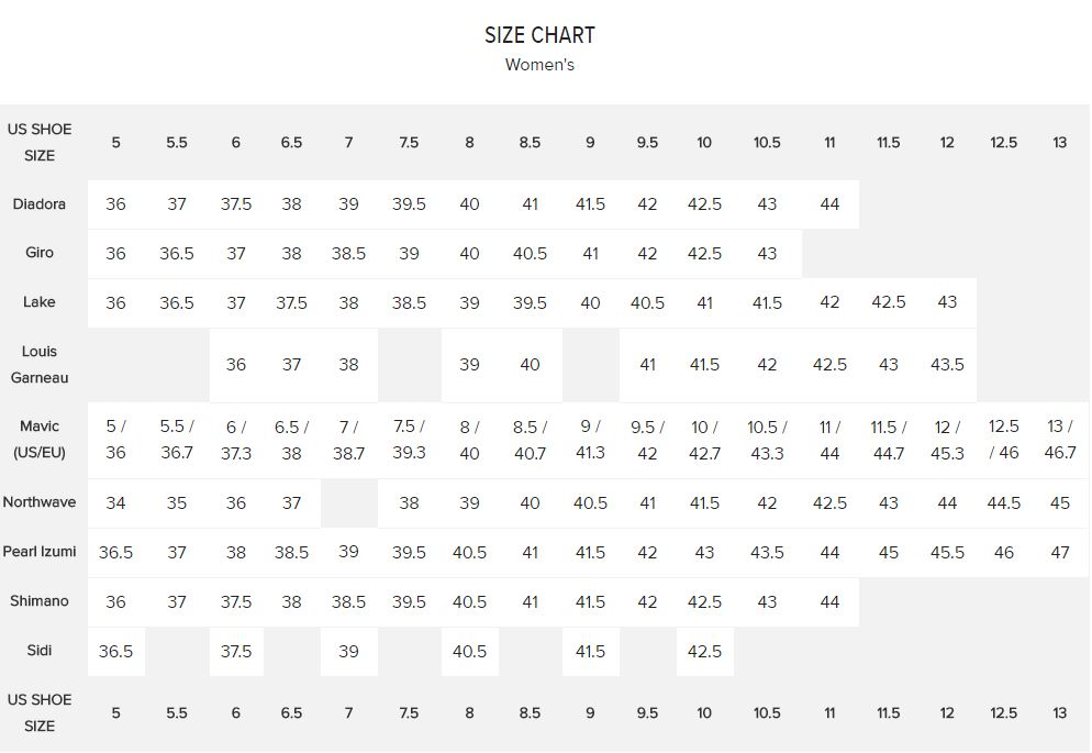 Shimano Bike Shoe Size Chart.The Best Road Bike Shoes In The Know Cycling