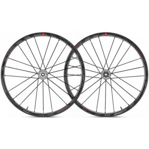 Fulcrum Racing Zero Carbon Disc Road Wheelset - 2019 - Black / Shimano / SRAM / 15mm Front - 142x12mm Rear / Pair / 11 Speed / Centerlock / Clincher / 700c