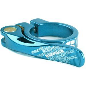 Sixpack Racing Menace Seatclamp - 31.8mm Blue   Seat Post Clamps