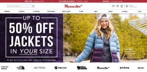Online Outdoor Stores - Moosejaw home page