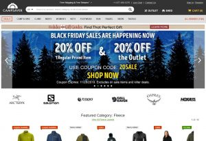 Online Outdoor Stores - Campsaver Home Page