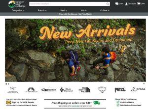Online Outdoor Store - Gearx website