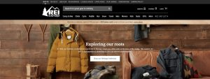 Online Outdoor Stores - REI home page