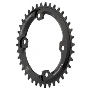 Wolf Tooth Elliptical Chainring For Shimano GRX Cranks Black, 38T