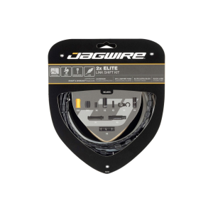 Jagwire 2x Elite Link Shift Cable Kit Black, SRAM/Shimano, Polished Ultra-Slick Cables