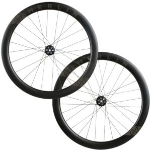 Merlin CDR-1 Carbon Clincher Disc Road Wheelset - 700c - Black / 12mm Front - 142x12mm Rear / Shimano / 6 Bolt / Pair / 10-11 Speed / Clincher / 700c