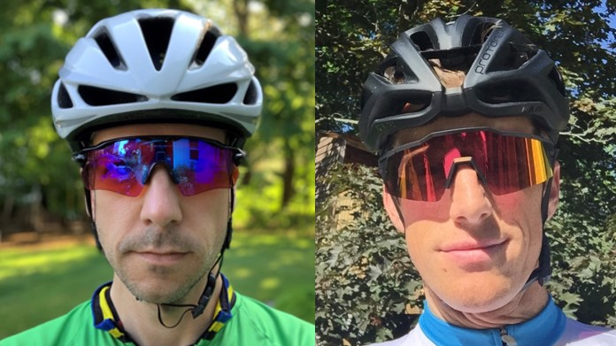 Our testers for the Best Road Bike Helmets review