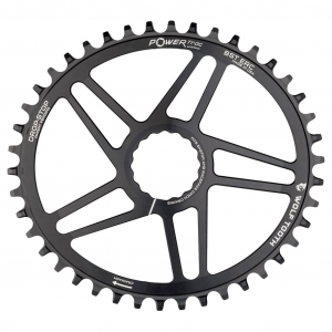 Wolf Tooth Components | Oval Direct Mount Chainrings for Easton Cinch | Black | 36T, Easton Cinch 47mm Chainline | Aluminum