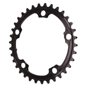 Absolute Black Premium 2x Oval Chainring (Black) (110mm BCD) (Offset N/A) (34T) - ROV34/5BK