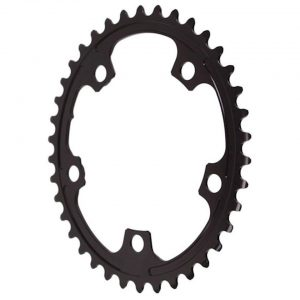 Absolute Black Premium 2x Oval Chainring (Black) (110mm BCD) (Offset N/A) (38T) - ROV38/5BK