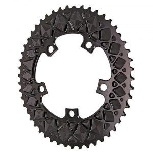 Absolute Black Premium 2x Oval Chainring (Black) (110mm BCD) (Offset N/A) (50T) - ROV50/5BK