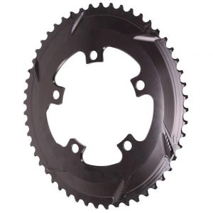 Absolute Black Premium 2x Oval Chainring (Black) (110mm BCD) (Offset N/A) (52T) - ROV52/5BK