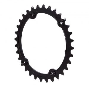 Absolute Black Premium Oval Subcompact Road Chainring (Black) (110mm BCD) (2.5mm Offs... - ROV32/4BK