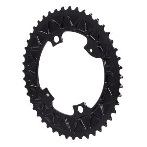 Absolute Black Premium Oval Subcompact Road Chainring (Black) (110mm BCD) (2.5mm Offs... - ROV46/4BK