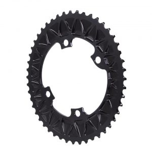 Absolute Black Premium Oval Subcompact Road Chainring (Black) (110mm BCD) (2.5mm Offs... - ROV48/4BK