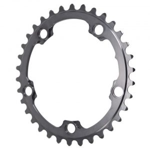 Absolute Black Winter 2x Oval Chainring (Black) (110mm BCD) (Offset N/A) (34T) - ROV34/5WINTER