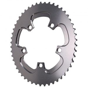 Absolute Black Winter 2x Oval Chainring (Silver) (110mm BCD) (Offset N/A) (50T) - ROV50/5WINTER
