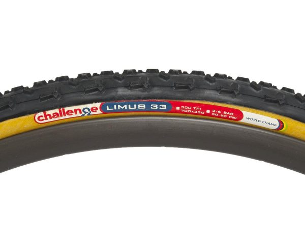 Challenge Limus Clincher Tire (Black/Tan) (700 x 33) - 620