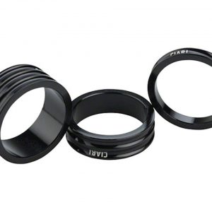 "Ciari Anelli 1-1/8"" Headset Spacers (Black) (5, 10, & 15mm) - 4717954550678"