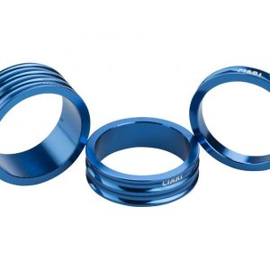 "Ciari Anelli 1-1/8"" Headset Spacers (Blue) (5, 10, & 15mm) - 4717954550692"