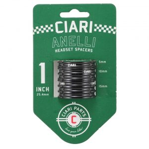 "Ciari Anelli 1"" Headset Spacer Kit (Black) - HD0510"