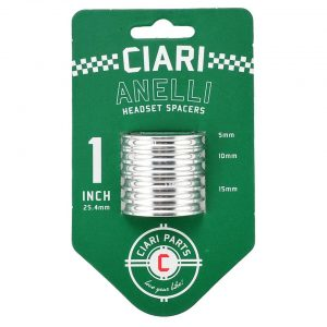 "Ciari Anelli 1"" Headset Spacer Kit (Silver) - HD0511"