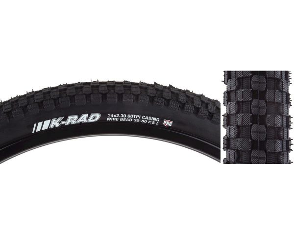 "Kenda K-Rad Sport SRC Tire (Black) (24"" x 2.3"") (Wire bead) - 037K5174"
