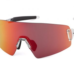 Optic Nerve Fixie Blast Sunglasses (Shiny Crystal Clear) (Red Mirror Lens) - 22103