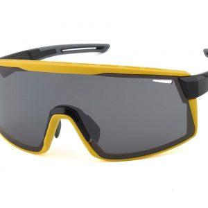 Optic Nerve Fixie Max Sunglasses (Black/Yellow) (Smoke/Silver Flash Lens) - 22075