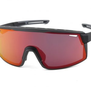 Optic Nerve Fixie Max Sunglasses (Matte Black/Aluminum) (Brown/Red Mirror Lens) - 22077