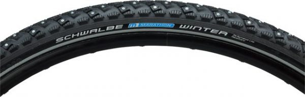 Schwalbe Marathon Winter Tire 700x40 Wire Bead Black with Reflective Sidewall