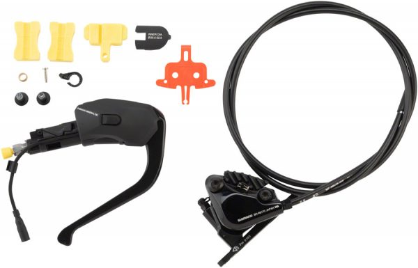 Shimano Dura-Ace ST-R9180 Di2 TT Shifter/Hydraulic Brake Lever Set with BR-R9170 Flat-Mount Brake Caliper and J-Kit Fittings, Front/Left