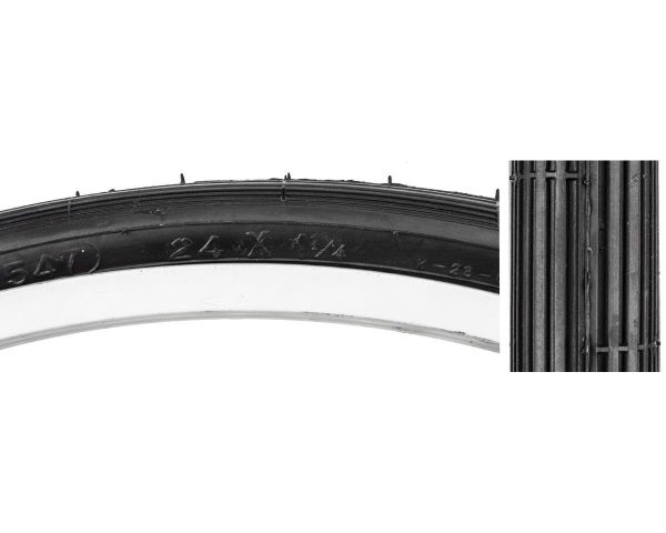 "Sunlite 24"" Recreational Tire (Black) (24 x 1-1/4) - 03190006"