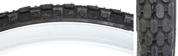 Sunlite Cruiser CST693 26x2.125 Tire, Wire, Black/White