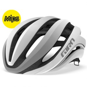 Giro Aether Spherical Road Bike Helmet - Matt White / Silver / Small / 51cm / 55cm