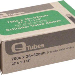 Q-Tubes 700C x 28-32mm 48mm Long Schrader Valve Tube
