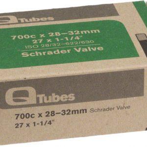 Q-Tubes 700C x 28-32mm Schrader Valve Tube 128g (27 x 1-1/4)
