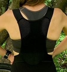 Castelli Premio Black W womens bib shorts back panel